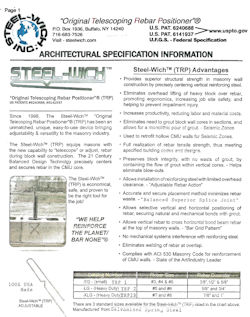 Steel-Wich Architectural Specification Information
