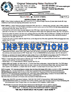 Steel-Wich Instruction Sheet