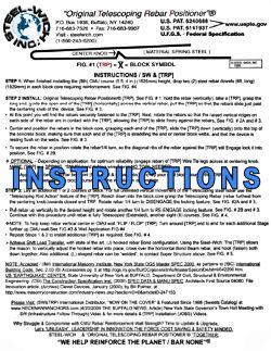Steel-Wich Instruction Sheet